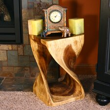 Thai Hand Carved Twist End Table by Strata Furniture