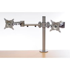 Twin Monitor Arm Fixed Desktop Mount Plasma Panel Screens