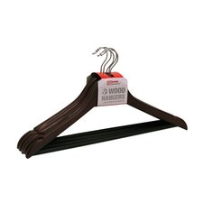 Wood Coat Non-Slip Hanger (Set of 5)