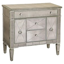 Sandbach Mirrored 5 Drawer Chairside Cabinet by House of Hampton