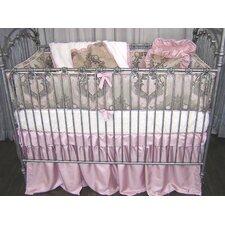 Pink Champagne 4 Piece Crib Bedding Set