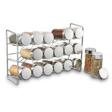 Compact 18 Jar Spice Jar & Rack Set
