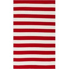 Newport Beige/Cherry Striped Rug