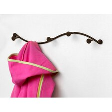 Single 5 Hook Coat Rack by Rebrilliant