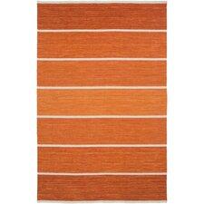 Carressa Rust Striped Area Rug
