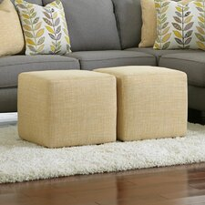 Chamberly Cube Ottoman (Set of 2) by Signature Design by Ashley