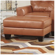 Paulie DuraBlend® Leather Ottoman by Benchcraft