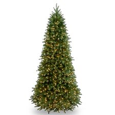 Jersey Fraser Fir 9' Green Jersey Fraser Slim Fir Artificial Christmas Tree with 1000 Clear Lights and Stand