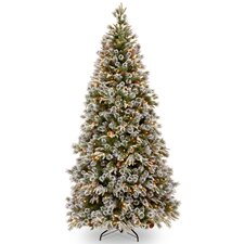 Liberty Pine 7.5' Green Artificial Christmas Tree with 500 Clear Lights and Stand