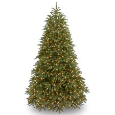 Jersey Fraser Fir 9' Green Medium Artificial Christmas Tree with 1500 Pre-Lit Clear Lights with Stand