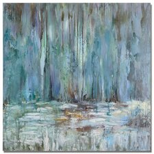 Blue Waterfall by Grace Feyock Painting on Wrapped Canvas