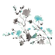 Deco Blossom Watercolor Bird Branch Wall Decal