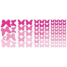 Flutter Butterflies 75 Piece Wall Decal Set