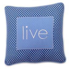 Simplicity Live Decorative Cotton Throw Pillow