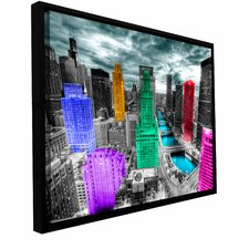 'Chicago' by Revolver Ocelot Framed Photographic Print on Wrapped Canvas