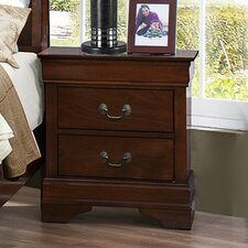 Mayville 2 Drawer Nightstand by Woodhaven Hill