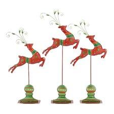 3 Piece Santa's Jumping Reindeer Set