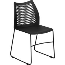 Flora Sled Base Stackable Side Chair Guest Chair