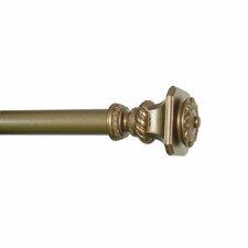 Soho 3 Piece Single Curtain Rod and Hardware Set