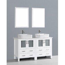 Brigantine 60 Double Bathroom Vanity Set with Mirror by Wade Logan