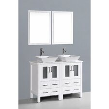 Brigantine 48 Double Bathroom Vanity Set with Mirror by Wade Logan