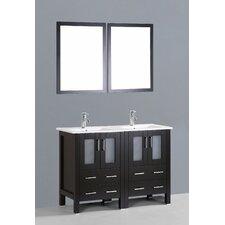 Brigantine 48 Double Bathroom Vanity Set with Mirror by Wade Logan