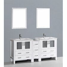 Brigantine 72 Double Bathroom Vanity Set with Mirror by Wade Logan