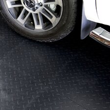 "18"" x 18""  Multi-Purpose Flexible PVC Diamond Pattern in Black (Set of 16)"