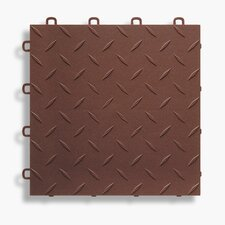 "12"" x 12""  Garage Flooring Tile in Brown"