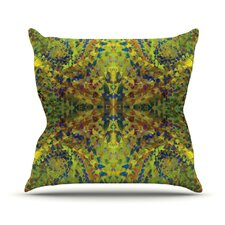 Yellow Jacket Abstract Outdoor Throw Pillow