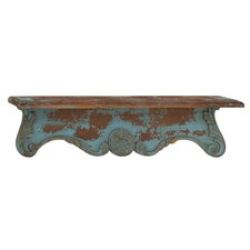 Antique and Timeless Wood Wall Shelf by Woodland Imports