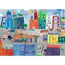 Construction Zone Canvas Art