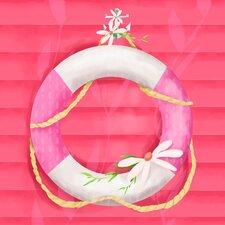Ring Floatie Pink Canvas Art