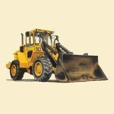 Classic Yellow Bulldozer Canvas