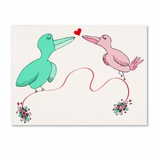 Love Birds by Carla Martell Painting Print by Trademark Fine Art