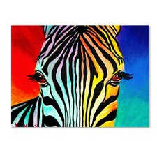 """""""Zebra"""" by DawgArt Painting Print on Wrapped Canvas"""