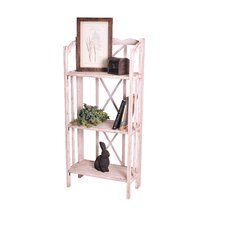 Haven Foldable Rustic Shelf 51 Etagere Bookcase by RTA Home And Office