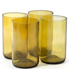 Wine Bottle Tumbler Glass (Set of 4)