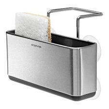 Slim Sink Caddy in Brushed Stainless Steel