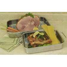 All In One 4-Piece Lasagna Pan and Roasting Pan Set with Rack