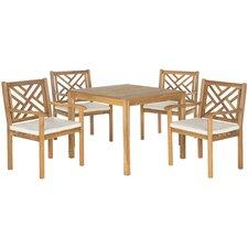Bradbury 5 Piece Dining Set with Cushions