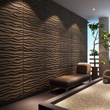 "Dunes Brick Paintable 31.4"" x 24.6"" Abstract 3D Embossed 6 Piece Panel Wallpaper (Set of 6)"