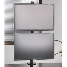 Dual LCD Monitor Heavy Duty Stacked Vertical Height Adjustable 2 Screen Desk Mount