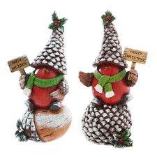 2 Piece Holiday Birds Garden Décor Oversized Figurine Set