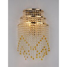 Heap 2-Light Crystal Wall Lamp