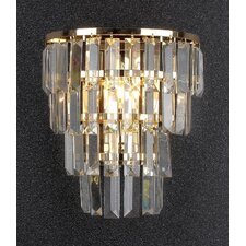 1-Light Crystal Wall Sconce