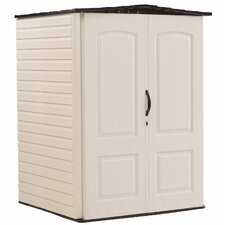 4.33 ft. W x 4 ft. D Plastic Vertical Tool Shed