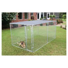 Dog Boxed Kennel in Galvanised