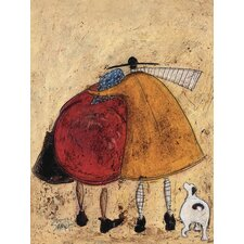 Hugs on the Way Home by Sam Toft Canvas Wall Art