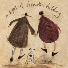 'A Spot of Handie Holding' by Sam Toft Wall art on Canvas